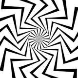 Kurenda wzór promieniowy, promieniuje linie Monochromatyczni starburs ilustracja wektor