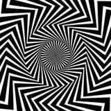 Kurenda wzór promieniowy, promieniuje linie Monochromatyczny starburst royalty ilustracja