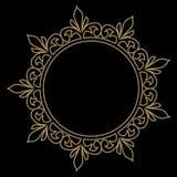 Kurenda wzór w arabesku stylu mandala kwiecisty ramowy round ilustracja wektor
