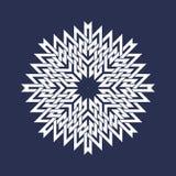 Kurenda wzór w azjata przecina linia styl Biel osiem wskazywał mandala w płatek śniegu formie na błękitnym tle royalty ilustracja