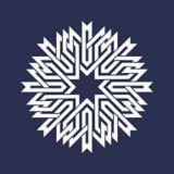 Kurenda wzór w azjata przecina linia styl Bielu osiem wskazujący mandala w płatek śniegu formie royalty ilustracja