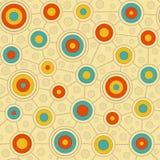 Kurenda wzór w Retro kolorach Obrazy Royalty Free