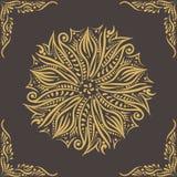 Kurenda wzór wektor ornamentu wektor 3 d formie ram trzy piękne wymiarowej ilustracji bardzo roczne 2007 pozdrowienia karty szczę Obraz Royalty Free