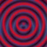 Kurenda wzór z koncentrycznymi okręgami Zatarty pokrywa się circ ilustracja wektor