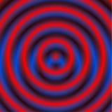 Kurenda wzór z koncentrycznymi okręgami Zatarty pokrywa się circ ilustracji