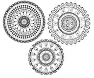 Kurenda wzory w formie mandala dla henny Mehndi ilustracji