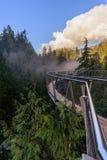 Kurenda, zawieszenie most na skale nad góra rive zdjęcia stock
