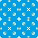 Kurenda zobaczył dyska deseniowego bezszwowego błękit ilustracja wektor