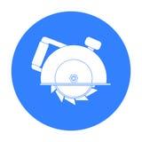 Kurenda zobaczył ikonę w odosobnionym białym tle Budowy i naprawy symbolu zapas ilustracja wektor