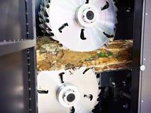 Kurenda zobaczył ostrza dla piłowanie maszyny zdjęcie stock