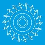 Kurenda zobaczył talerzową ikonę, konturu styl ilustracji