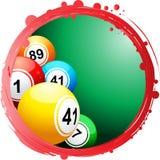 Kurendy granica z bingo piłkami Obrazy Royalty Free