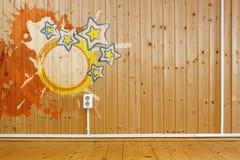 kurendy ramowy grunge wnętrze drewniany Fotografia Royalty Free