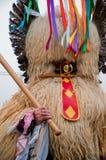 kurent maskering för karneval Arkivfoton