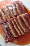 kurerad meat Arkivfoton