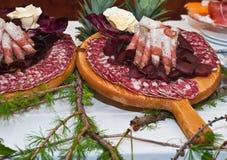 kurerade meats Arkivfoton