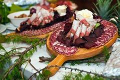 kurerade meats Royaltyfria Bilder