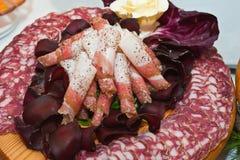 kurerade meats Fotografering för Bildbyråer