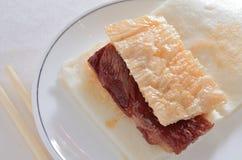 Kurerat köttbröd royaltyfri bild