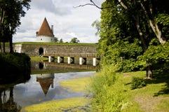 Kuresaare Schlossbrücke Stockfotografie