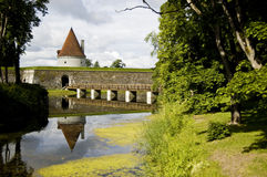 Kuressaare castle bridge Stock Photography