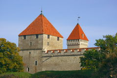 Kuressaare Castle in Bright Autumn Colors Royalty Free Stock Photo