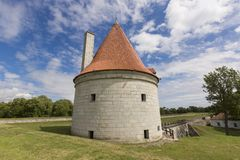 Kuressaare Castle and its tower. Summer sunny day Royalty Free Stock Images