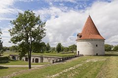 Kuressaare Castle and its tower. Summer sunny day Stock Image