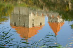 Kuressaare Castle reflection Royalty Free Stock Photography