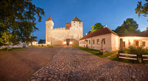 Kuressaare fortress at night. Panorama Royalty Free Stock Photos
