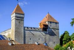 Kuressaare, isola di saaremaa, Estonia, Europa, il castello Immagine Stock Libera da Diritti