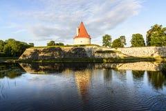 Kuressaare, isola di saaremaa, Estonia, Europa, il castello Fotografie Stock