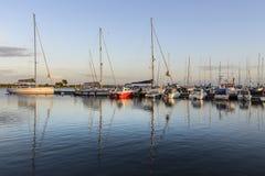 Kuressaare, isola di saaremaa, Estonia, Europa, il piccolo porto Immagine Stock Libera da Diritti