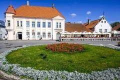 Kuressaare, isola di saaremaa, Estonia, Europa, il quadrato principale Fotografia Stock