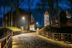 Kuressaare, Saaremaa Island, Estonia. Cabblestone Road Near Epis Stock Photography