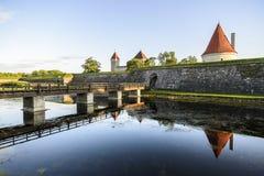 Kuressaare, saaremaa wyspa, Estonia, Europe kasztel zdjęcie royalty free
