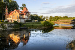 Kuressaare, saaremaa wyspa, Estonia, Europe, typowy dom fotografia stock