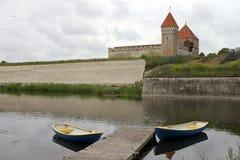 Kuressaare Schloss in Saaremaa Lizenzfreies Stockfoto