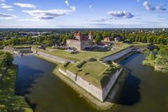 Kuressaare-Schloss-Vogelaugenansicht HDR stockbild