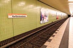 Kurfurstendamm tunnelbanastation Arkivbilder