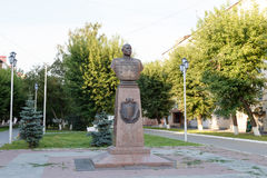 Kurgan, Russia - August 10, 2016: Bust of the hero of the Soviet Stock Image