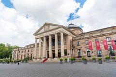 Kurhaus和剧院在威斯巴登,德国 库存照片