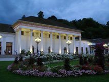 Kurhaus, Baden-Baden, Germany. Baden-Baden's Casino at night, set in the elegant Kurhaus designed by Friedrich Weinbrenner. Baden-Baden, also known as the summer Stock Images