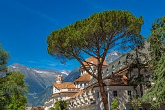 Kurhaus in Meran. Kurhaus cure house in Meran, South Tyrol royalty free stock images