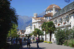 Kurhaus in Meran Stockbild