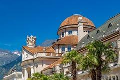 Kurhaus in Meran. Kurhaus cure house in Meran, South Tyrol royalty free stock photography