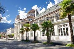 Kurhaus in Merano, Zuid-Tirol, Italië Royalty-vrije Stock Foto's
