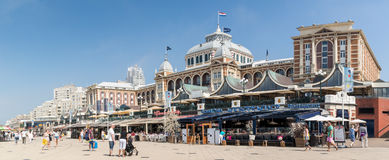 Kurhaus and promenade of Scheveningen, The Hague, Netherlands Royalty Free Stock Image