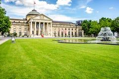Kurhaus Wiesbaden Health Spa. Wiesbaden, Germany - 2018-06-03: Casino Kurhaus of Wiesbaden stock photo