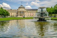 Kurhaus Wiesbaden Health Spa. Wiesbaden, Germany - 2018-06-03: Casino Kurhaus of Wiesbaden stock photos